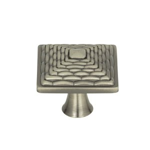 "Atlas Homewares - Cabinet Hardware - Mandalay 1 1/4"" Square Knob in Brushed Nickel"