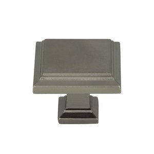 "Atlas Homewares - Cabinet Hardware - Sutton Place 1 1/4"" Square Knob In Slate"