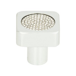 "Atlas Homewares - Cabinet Hardware - Boutique 1"" Knob in Brushed Anodized with Crystal"