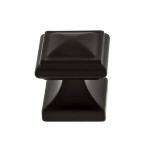 "Atlas Homewares - Wadsworth - 1 1/4"" Square Knob in Matte Black"
