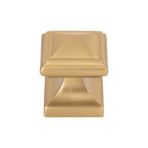 "Atlas Homewares - Wadsworth - 1 1/4"" Square Knob in Warm Brass"