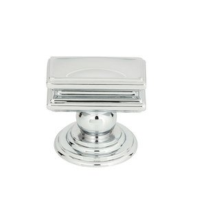Atlas Homewares - Cabinet Hardware - Campaign Rectangle Knob In Polished Chrome