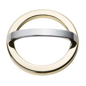 "Atlas Homewares - Tableau - 3"" Centers Round Base In French Gold With Curved Handle In Polished Chrome"