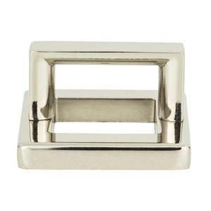 "Atlas Homewares - Tableau - 1 7/16"" Centers Square Base In Polished Nickel With Squared Handle In Polished Nickel"