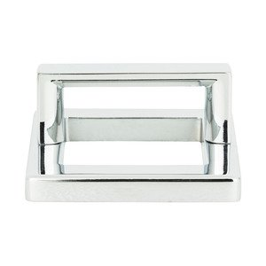 "Atlas Homewares - Tableau - 1 7/8"" Centers Square Base In Polished Chrome With Squared Handle In Polished Chrome"