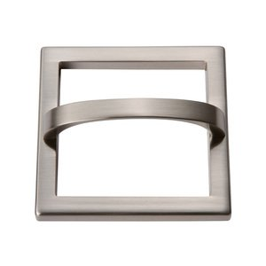 "Atlas Homewares - Tableau - 3"" Centers Square Base In Brushed Nickel With Curved Handle In Brushed Nickel"