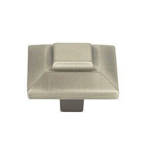 "Atlas Homewares - Trocadero - 1"" Small Square Knob in Pewter"