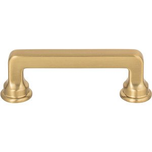 "Atlas Homewares - Oskar - 3"" Centers Handle in Warm Brass"