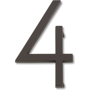 Atlas Homewares - Modern Avalon #4 House Number in Oil Rubbed Bronze