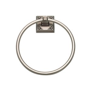 Atlas Homewares - Bath Hardware - Craftsman California Towel Ring in Pewter