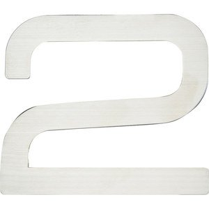 Atlas Homewares - Home Accents - Paragon # 2 Self-Adhesive House Number in Stainless Steel