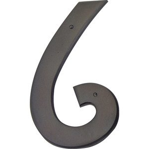 Atlas Homewares - Home Accents - Mission # 6 House Number in Oil Rubbed Bronze