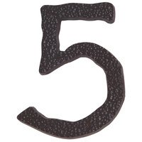 Atlas Homewares - House Numbers Hammered - # 5 House Number in Oil Rubbed Bronze