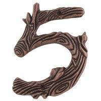 Atlas Homewares - House Numbers Twig - # 5 House Number in Craftsman Copper