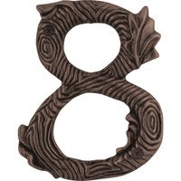 Atlas Homewares - House Numbers Twig - # 8 House Number in Craftsman Copper
