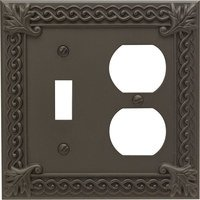 Atlas Homewares - Venetian - Single Toggle Single Duplex Outlet Switchplate in Oil Rubbed Bronze